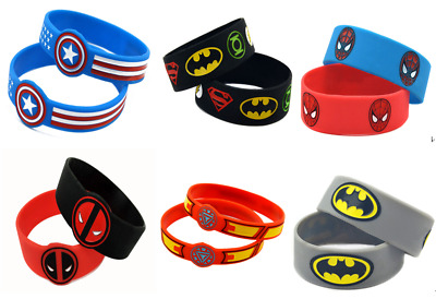 Latest Super Hero Children Kids Wristbands Silicon Wrist Bands bracelet Gift