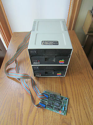 "Vintage Apple Computers Disk Ii Drive 1 & 2 5.25"" Floppy Disk Drive"