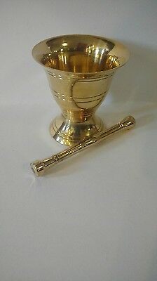 Small Brass Mortar and Pestle 2.75 inch