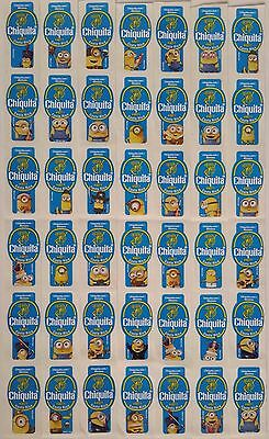 (C10) Minions Costa Rica Chiquita Banana Labels Stickers Full Set Of 32