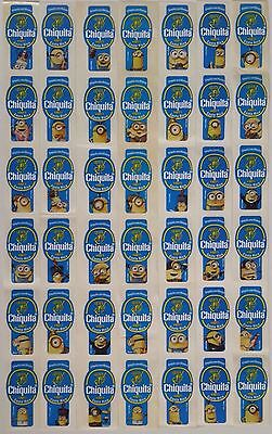 (C09) Minions Costa Rica Chiquita Banana Labels Stickers Full Set Of 32