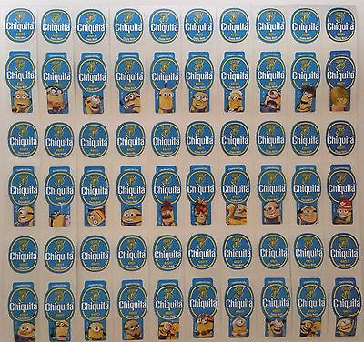 (C04) Despicable Me 2 Minions Costa Rica Chiquita Banana Stickers Full Set Of 28
