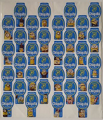 (C14) Minions Ecuador Chiquita Banana Labels Stickers Full Set Of 32