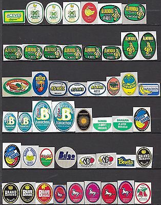 Mexico  Banana Labels Stickers Collection 312 Different Excellent Condition