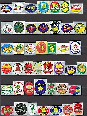 Philipines Banana Labels Stickers Collection 250 Different All Mint Condition