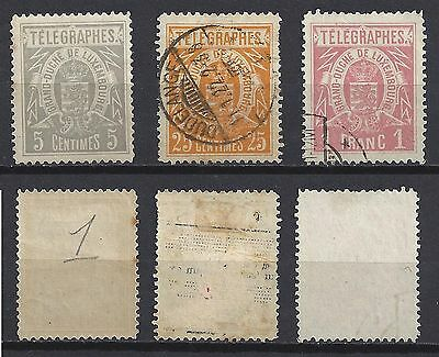 LUXEMBOURG lot TELEGRAMMES Mint Used