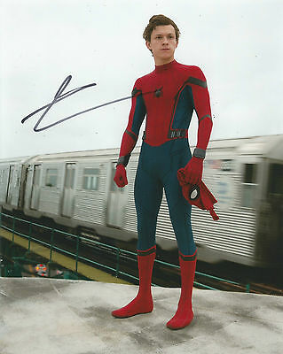Tom Holland Signed Spider-Man: Homecoming 10x8 Photo AFTAL
