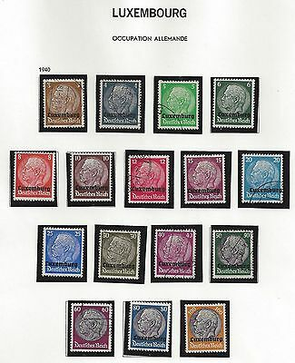 LUXEMBOURG lot German Occupation