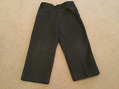 Boys M&S grey School trousers size 4 years with zip pocket