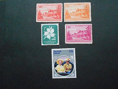 NORFOLK ISLAND 5 Mint Hinged Stamps
