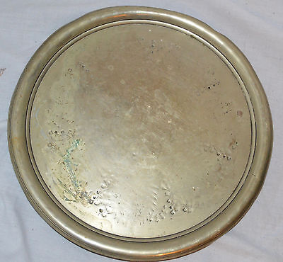 "Antique 12"" Pewter Plate R Richardson Cornwall Works Sheffield"