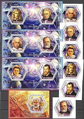 {C} Chad 2014 Famous Scientists Einstein Curie set of 6 + 4 S/S MNH**