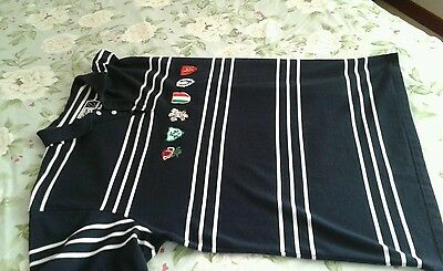 Cotton Traders 4XL 6 Nations rugby top in navy blue
