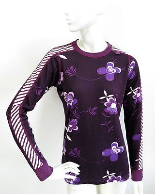 Helly Hansen Womens Top Base Layer Floral size L
