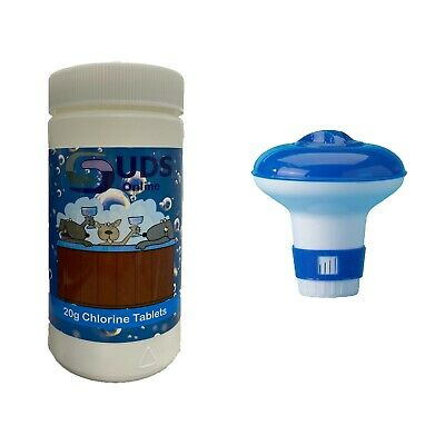 Chlorine Floating Dispenser with 50 x 20g Tablets for Hot Tub Spa Inflatable