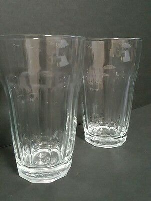 Pair of Pasabahce Palaks High Ball Glasses  Clear Made in Turkey