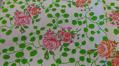 """Feed Sack Fabric Roses Authentic 34"""" x 34"""""""