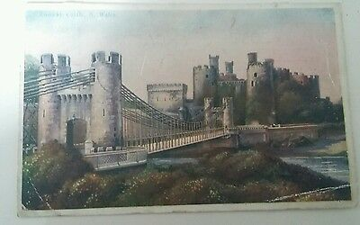 Conway Castle. North Wales. Old postcard