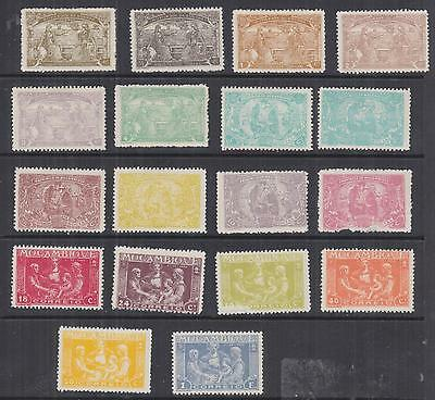 MOZAMBIQUE, Charity Tax, 1920 set of 18, lhm., 12c. damaged.