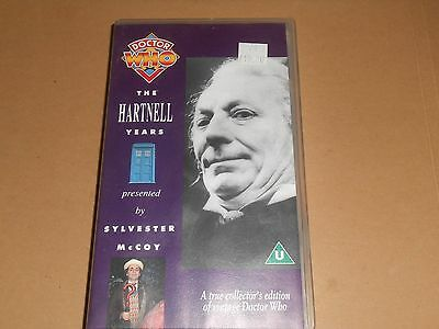 Dr Doctor Who - The William Hartnell Years - VHS/PAL Video with Sylvester McCoy