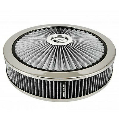 "Spectre 47628 Filter Top 14"" Air Cleaner Assembly White ExtraFlow"