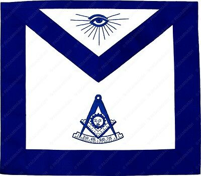 Masonic Blue Lodge Past Master Apron Hand Embroidered (Ma-101-V)