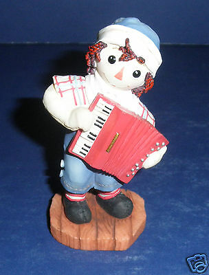Enesco Raggedy Ann Figurine-New in Box- #864919 Music is Laughter in Hearts
