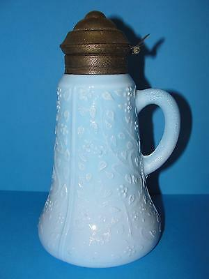 Challinors #313 Antique Victorian Blue Opaque Syrup, Art Glass