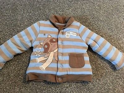 Baby Boys Thick Cardigan Jacket 0-3 Months