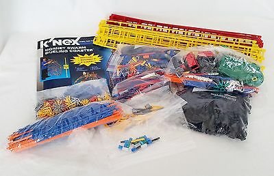 Knex Hornet Swarm Dueling Coaster Toy Pieces Parts Lot - Cars Gears Track Motor