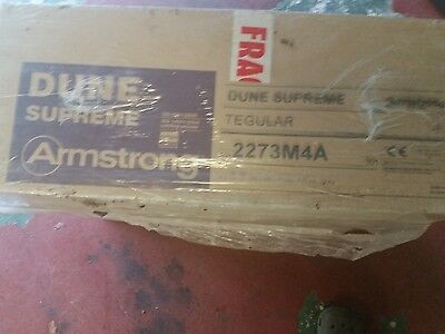 ARMSTRONG DUNE SUPREME FLAT CEILING TILES BOARD 600 x 600mm EDGE 24/15mm FIT