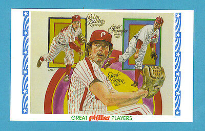 1983 Perez-Steele Great Phillies Players Postcard #2 Roberts, Carlton, Alexander