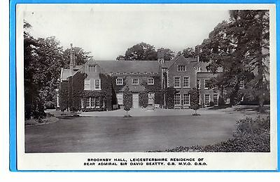 Brooksby Hall Near Leicester-  Real Photo P/c - Towne`s Series  Posted 191`7