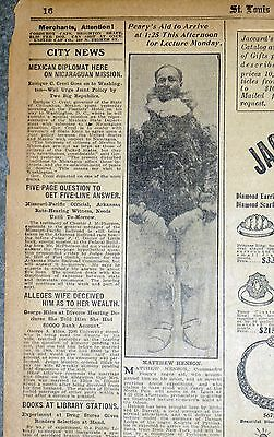 1909 Newspaper Page - Matthew Henson 1st African-American at North Pole