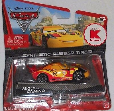 Disney Pixar Cars 2 Kmart Day 7  Miguel Camino With Rubber Tires