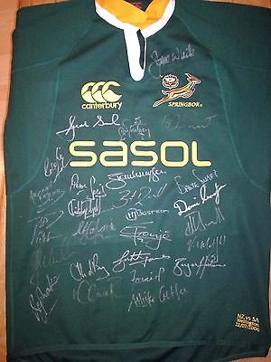 South Africa Springboks Match Worn Rugby Shirt /jersey/maillot- Rare- Look!!