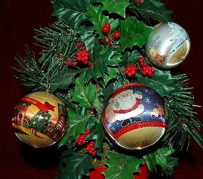 1970's  Vintage Ornaments  Lot Of 3 Pieces Unresearched As Found