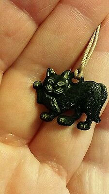 Rare Vintage Boord's  Old Tom Gin Celluloid Plastic Black Cat Charm