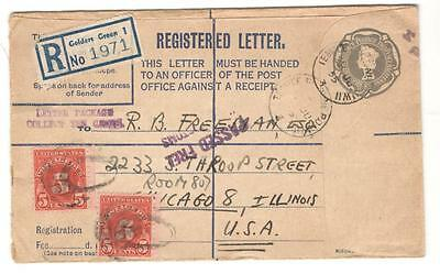 United Kingdom Cover Registered 1955 England To Usa With Postage Dues