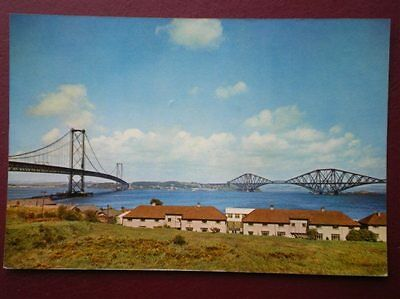 Postcard West Lothian Forth Bridges From South Queensferry