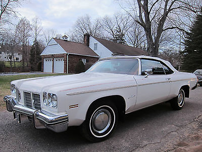 1975 Oldsmobile Eighty-Eight Delta OLDSMOBILE DELTA 88 CONVERTIBLE 1975 WHITE RED INTERIOR 47K MILES! VERY NICE CAR