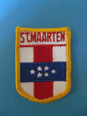 ST. MAARTIN Shield Patch Hat Jacket Biker Vest Backpack Travel Country A