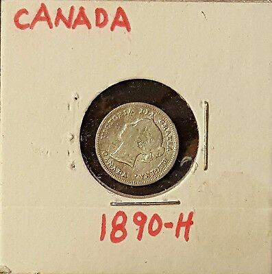 1890-H 5C Canada 5 Cents