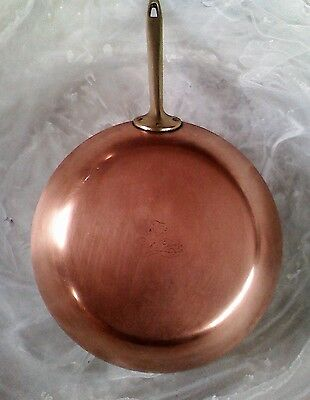 "PAUL REVERE 1801 SIGNATURE Collection COPPER Cookware 10 1/2"" SKILLET USA"