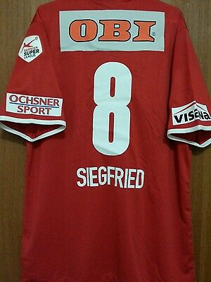 Fc Thun From Swizerland #8 Siegfried Match Worn Size L