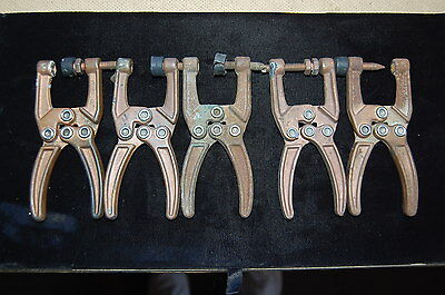 Sheet Metal Aircraft Welding Tools Lot of Five Vices Clamp Holders My Lot #4