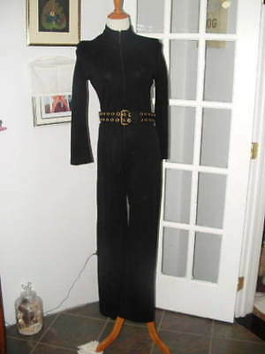 Vintage Womens Black 1960's Black Jumpsuit By Chequers sz.Small