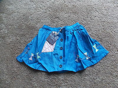 Matilda Jane Denim Fly A Kite Skirt NWT Size 2