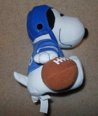 """Rare Metlife Peanuts Snoopy Football Player With Helmet 7"""" Stuffed Plush Toy New"""