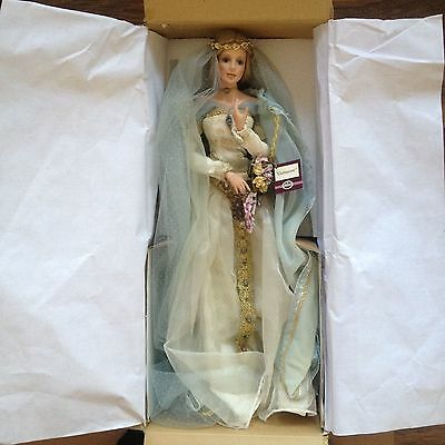 RARE! Collectable 'Guinevere' bride porcelain doll by Cindy M McClure